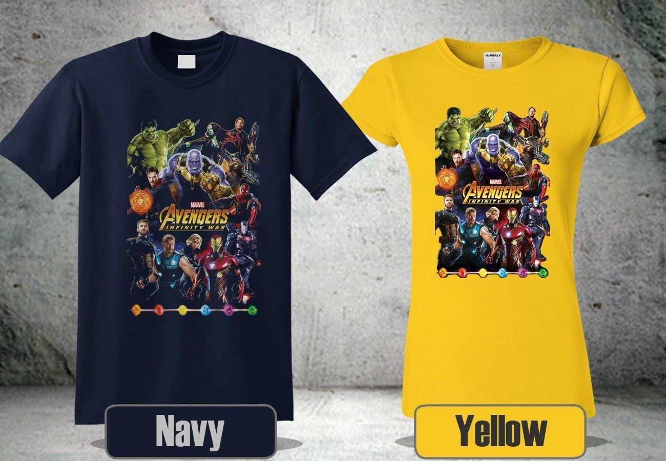 New Avengers Infinity War Poster Heroes T Shirt Tees Custom Jersey T
