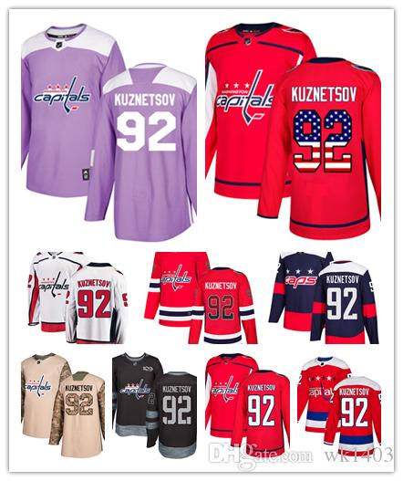 2019 Washington Capital Jerseys  92 Evgeny Kuznetsov Jersey Hockey Men  Women Youth White Red Alternate Premier Blue Stadium Stiched Jerseys From  Wk1403 b809a973ae25