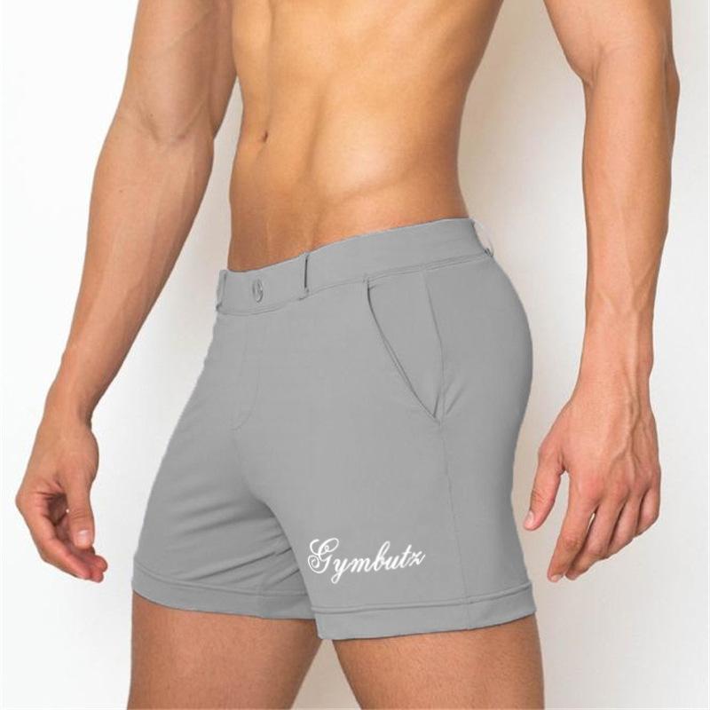 6cdbf26b5710 Hombres Bermudas Pantalones cortos 2019 Nuevos gimnasios de verano Fitness  Culturismo Pantalones de chándal Entrenador Pantalones cortos ...