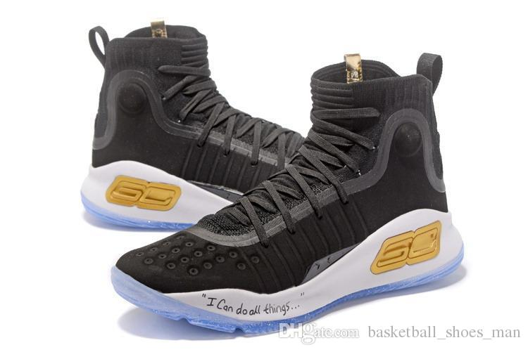 d20b6059de1f 2019 Curry 4 Kids All Star Basketball Shoes Stephen Curry 4 Finals PE Black  White More Rings More Range Dimes Magic Sport Sneakers From  Basketball shoes man ...