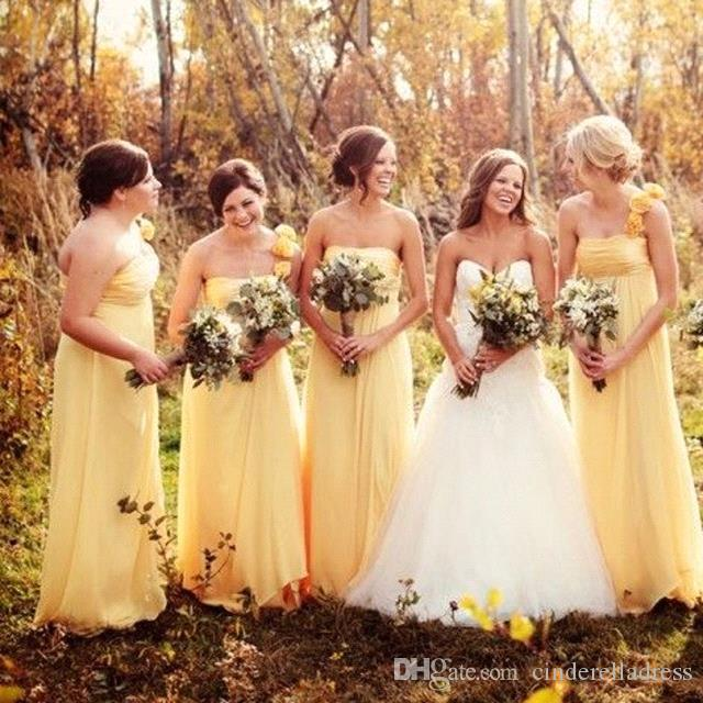 2019 Country Style Strapless Maternity Bridesmaid Dresses With Handmade Flowers Plus Size Boho Long maid Of Honor Gowns BC2147