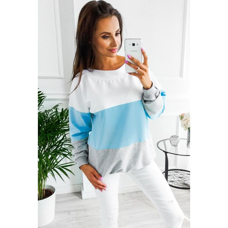 Women Thin Hoodies 2019 New Arrival Womens Contrast Color Sexy Hoodie Designer Hoodies Sweater for Women Hot Sale