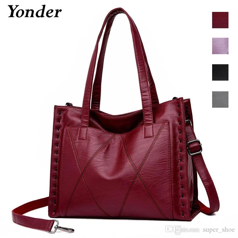 8c584122a7af Yonder Brand Women Genuine Leather Bag Female Shoulder Bag With Large  Capacity Ladies Handbag High Quality Sheepskin Tote Bags #173707 Rosetti  Handbags Name ...