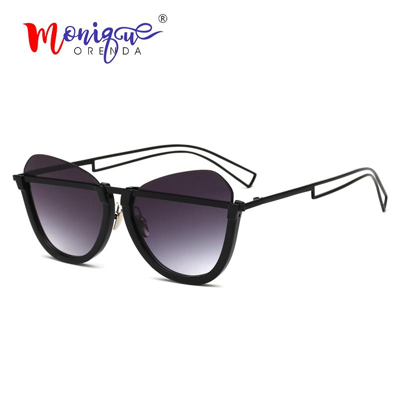 900ba3fbe3 2019 Sunglasses Luxury Cat Eye Sunglasses Women Vintage Half Frame Gradient  Hollow Legs Sun Glasses Men Ladies Eyewear Oculos Online with  25.66 Piece  on ...