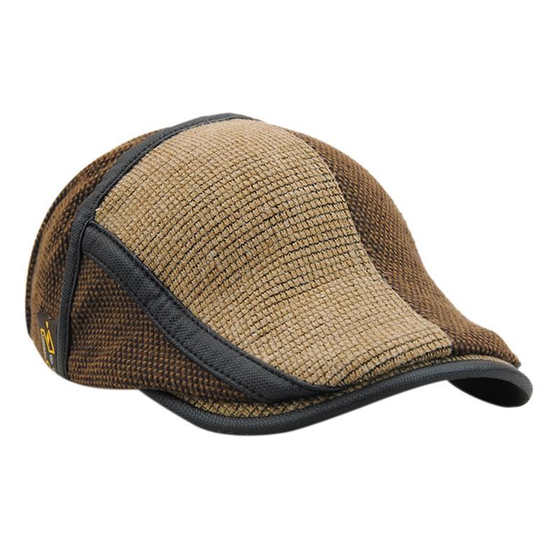 f8f4a63c8d78d Compre Sombreros Para Hombre Boinas Viseras Gorra Cálido Patchwork Sombrero  De Hombre Visera De Punto Gorras De Invierno Estilo De Inglaterra A  37.95  Del ...