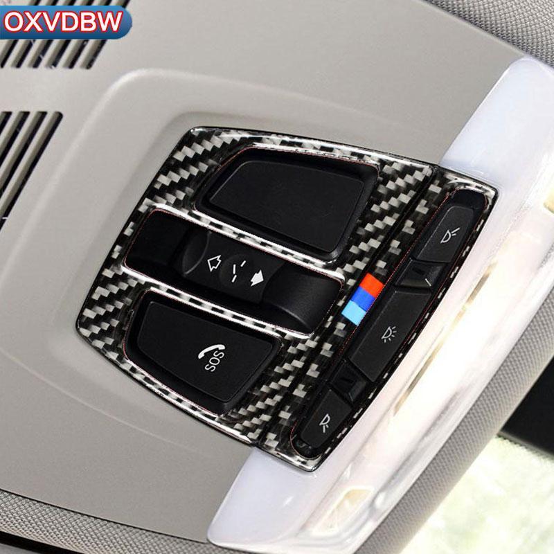 2019 Carbon Fiber Car Interior Dome Reading Light Decoration Frame