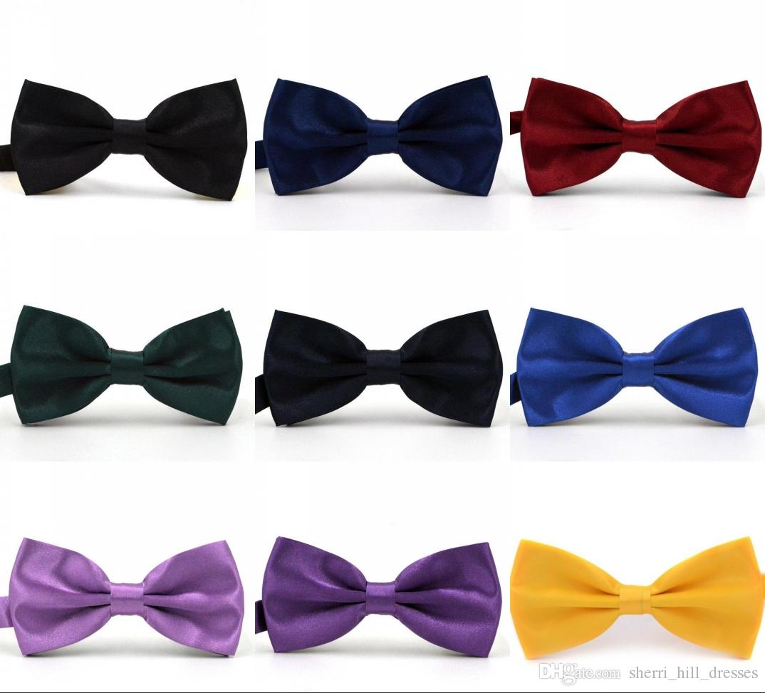 Solid Colors Trumpet Bow Ties For Weddings Fashion Man And Women Neckties Mens Bow Ties Leisure Neckwear Bowties Adult Wedding Bow Tie