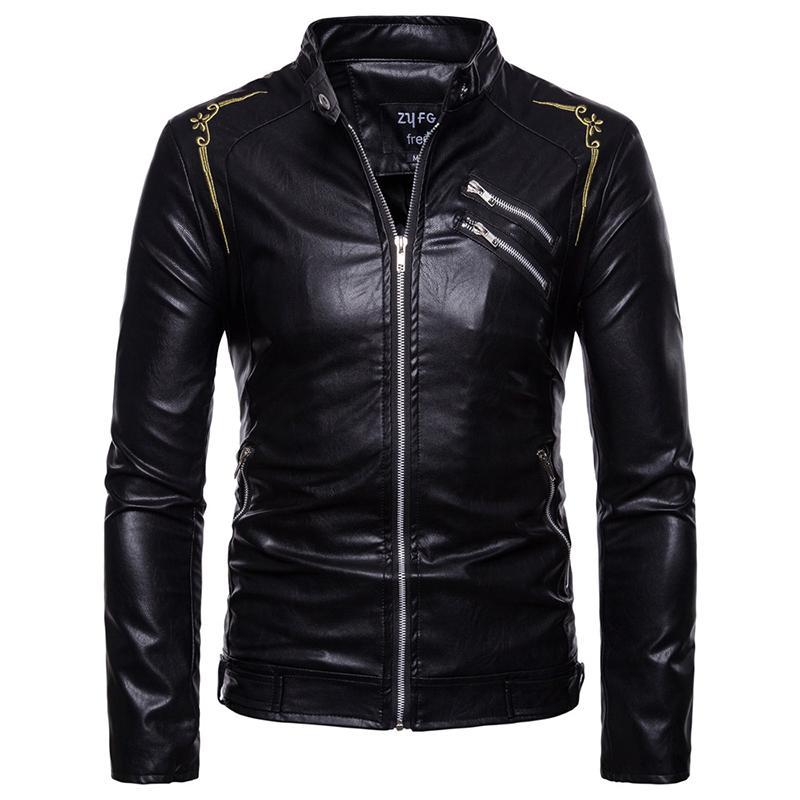 c939ab12495d9 Cheap Faux Leather Crop Jacket Best Mens Faux Leather Jacket Cotton Sleeves