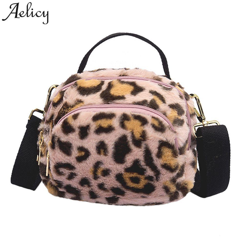 Designer Aelicy Women Bags Plush Leopard Print Shoulder Bag High Quality  Casual Messenger Crossbody Bucket Bag Sac A Main Cheap Handbags Cheap Purses  From ... c2c30f0007b3