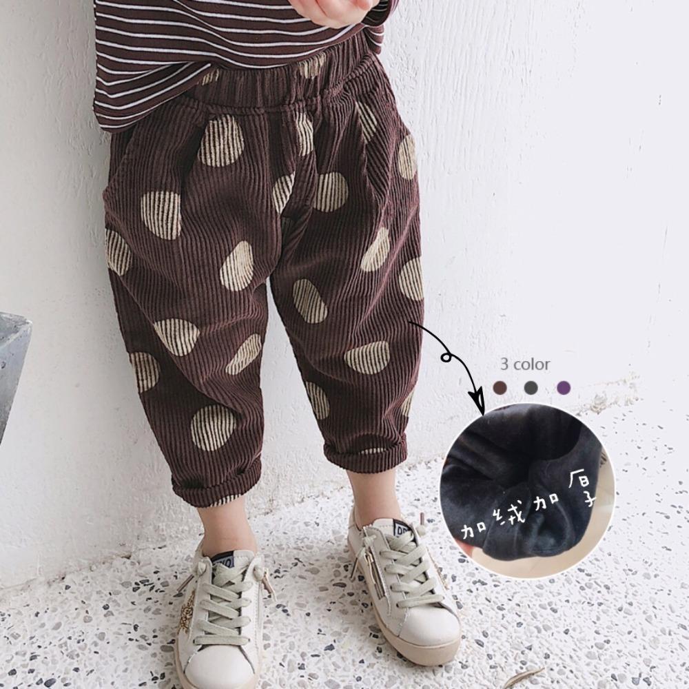0d924a077457 Kids Pants Baby Girls Bloomers Winter 2019 Fleece Dot Pattern ...
