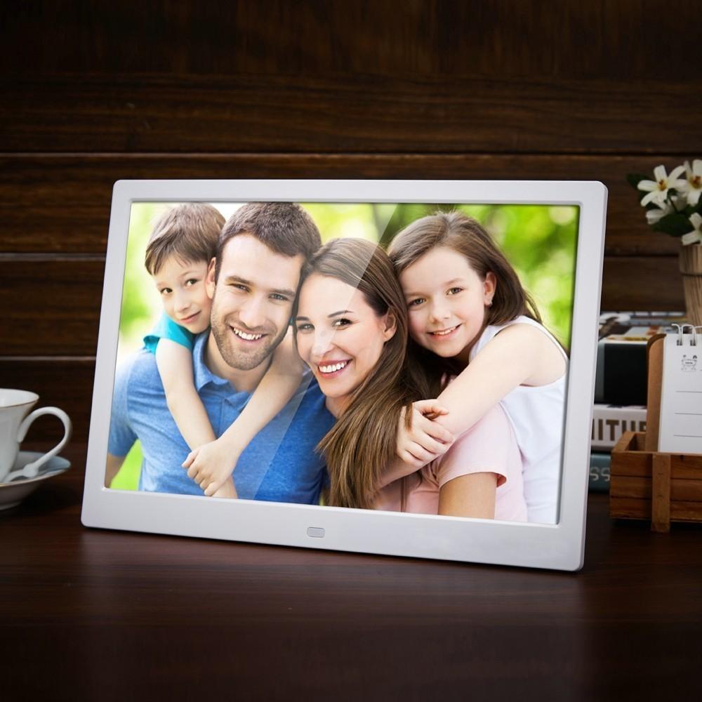 Новый 12-дюймовый Цифровая фоторамка HD 1280x800 LED подсветкой Электронный альбом Фото Музыка Видео хороший подарок