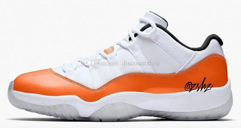 4e13202c15a917 Cheap Wholesale 11 Low WMNS Orange Trance Mens Casual Shoes 11s Low Orange  Trance For Sale Us 8 13 Come With Box Mens Dress Shoes Platform Shoes From  ...