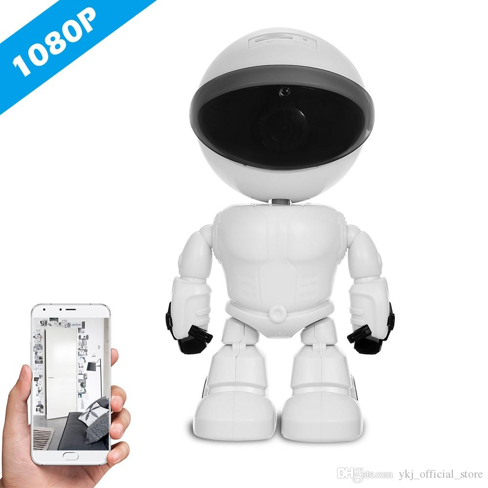 Wifi Robot IP Camera Home Security Surveillance System Night Vision CCTV Camera HD 1080P Baby Monitor