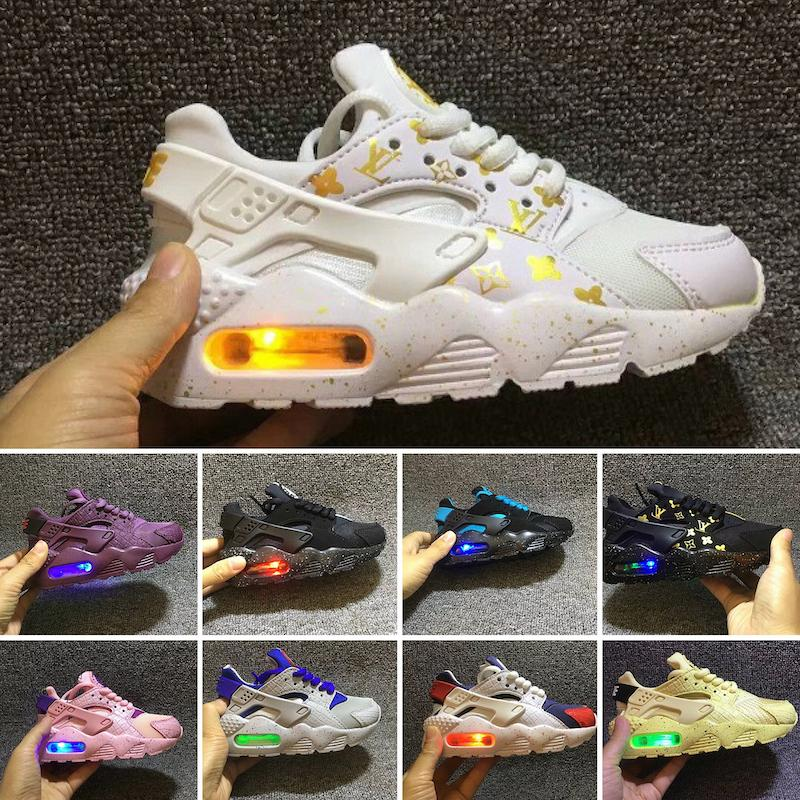 2018 infant boy Air Huarache Ultra Running Shoes kids Children red Huaraches huraches Designer Hurache Casual trainers green Sneakers 28-35