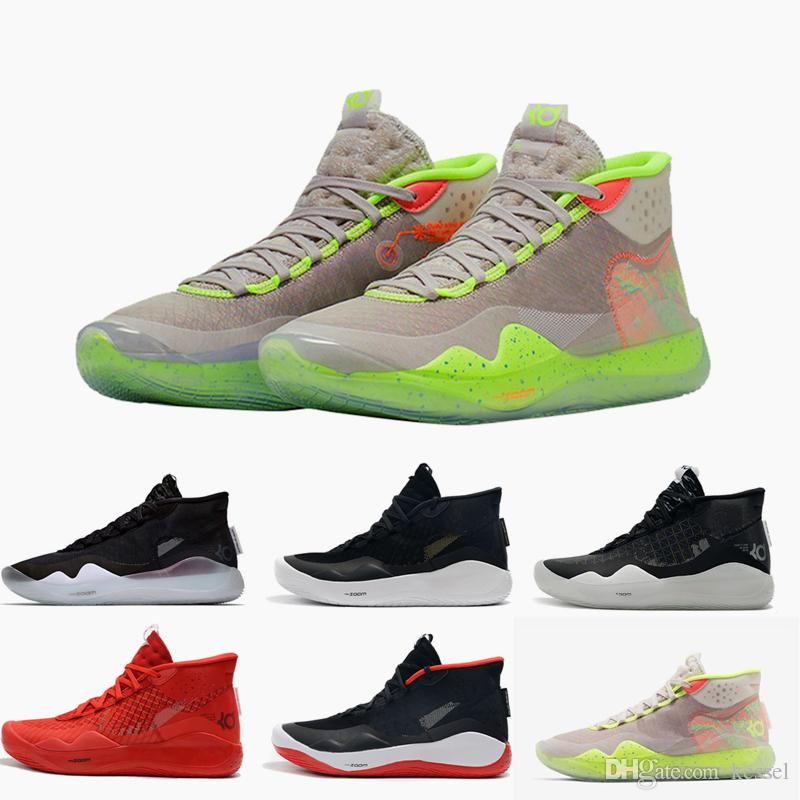 premium selection b52fd a1f87 2019 New Arrival Kevin Durant KD 12 Anniversary University 12s XII Oreo Men  Basketball Shoes USA Elite KD12 Sport Sneakers Size 40-46