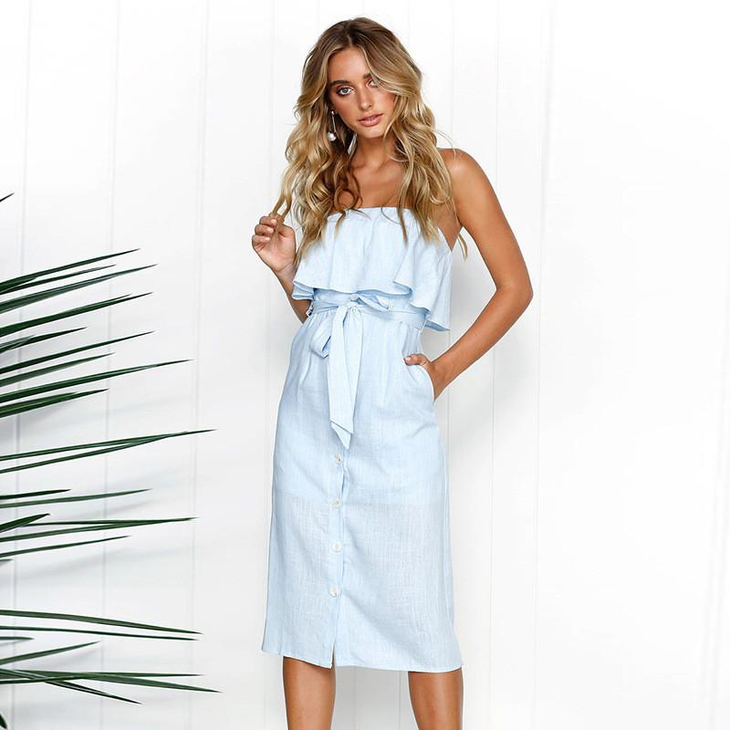 96d0c26ba38 Sexy Off Shoulder Dress Women 2019 Summer Beach Dress Strapless Bodycon  Midi Dresses Fashion Ruffles Tunic Office Ladies Vestido Semi Formal Dress  Short ...