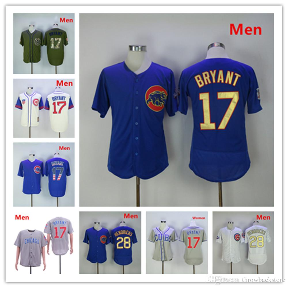 low priced 70722 5d828 Chicago 2017 Kris Bryant Jersey Cubs #17 Mother s Day World Series  Champions Kyle Hendricks Player Baseball Jerseys