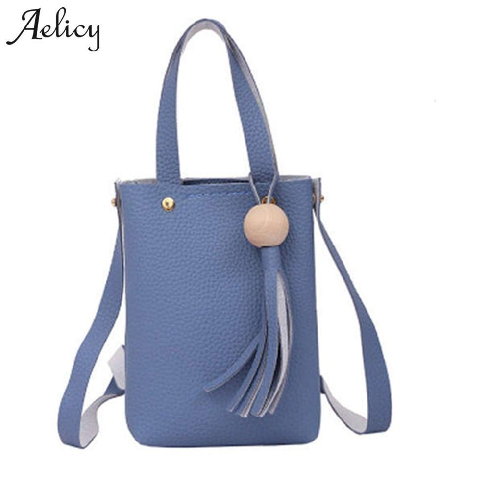 b4b807bb7a8 Cheap Fashion Aelicy 2019 Women PU Leather Messenger Bags Sling Satchel Crossbody  Shoulder Bag Tassel Fashion Female Mini Small Purse Bolsas Cute Purses ...