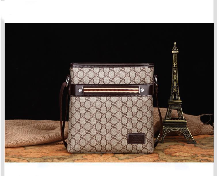New Designer Famous Brand Leather Men Bag Briefcase Casual Business ... 0d6d327efa5e6