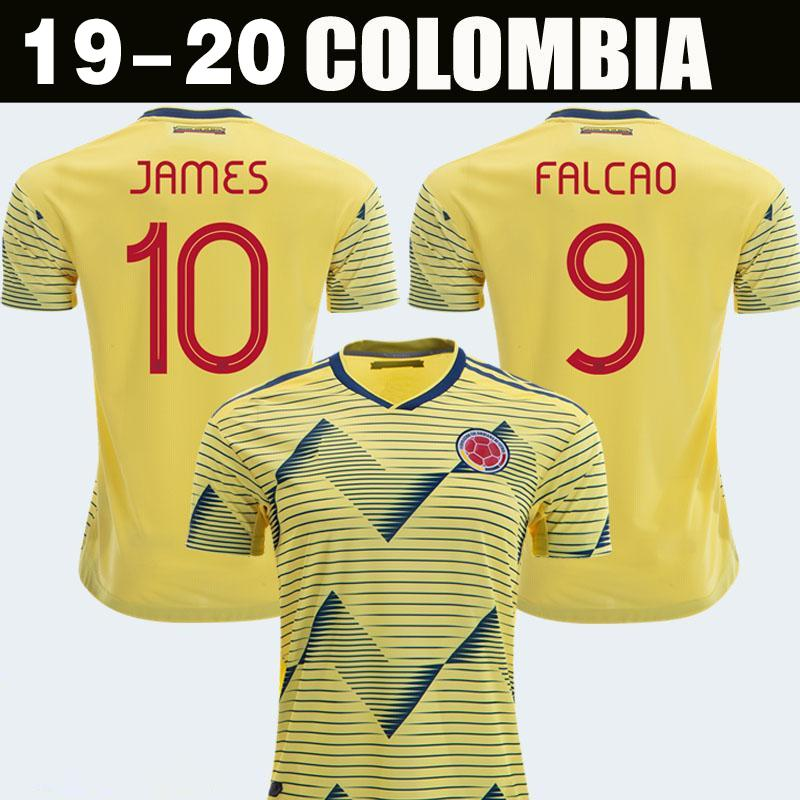 reputable site d18a6 80444 New 2019 Colombia Soccer Jerseys Copa America Colombia JAMES Rodriguez  Camiseta de futbol FALCAO Juan CUADRADO VALDERRAMA Football shirts