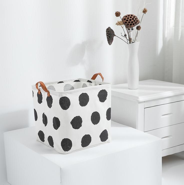Bolsa de almacenamiento plegable de plástico con tapa superior impermeable para baño ropa sucia caja de almacenamiento de ropa de algodón y lino bolsa de almacenamiento de juguetes para niños