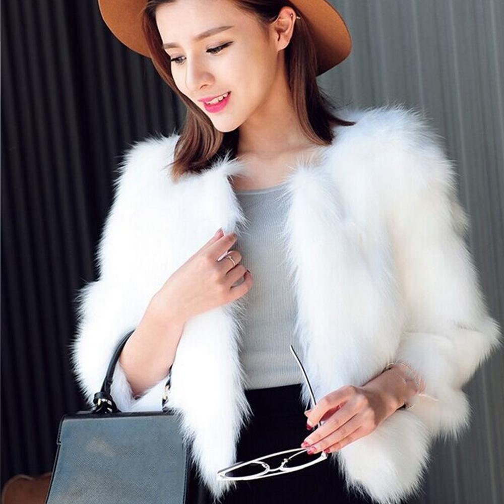99edd78f56 2019 Solid O Neck Short Style Women Faux Fur Coat Long Sleeve Warm Winter  Jacket Women Elegant Outerwear Casual Faux Fur Coat From Wochanmei, ...