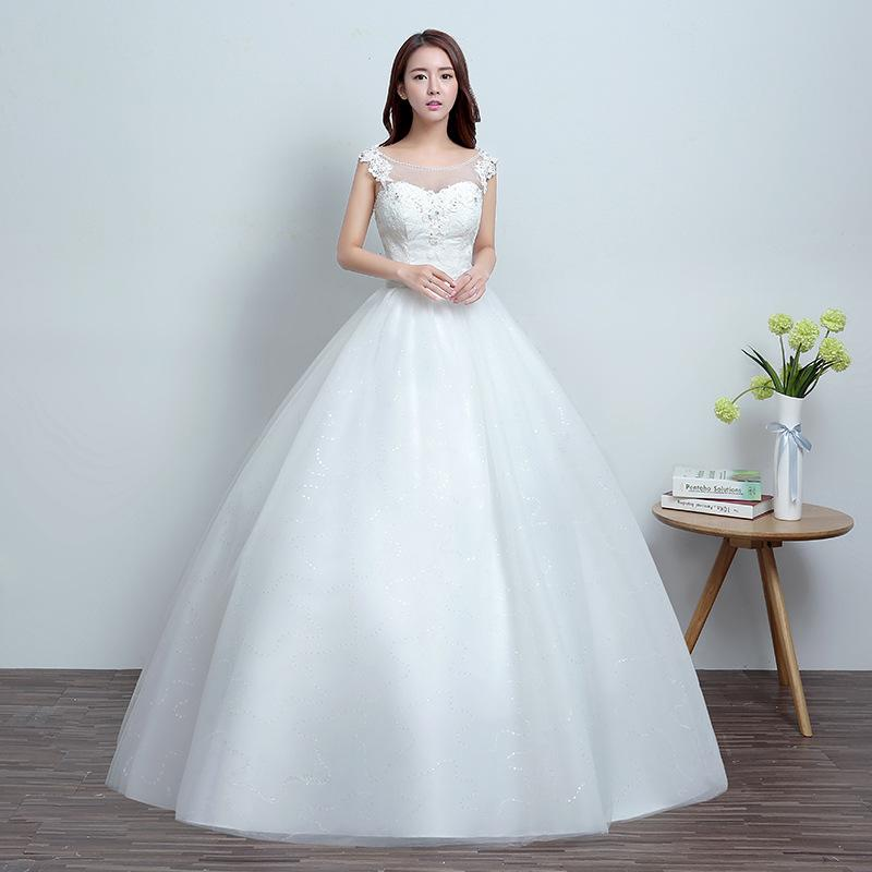 d2cdcf5813f Top Quality Wedding Dress Bride 2019 New Korean Style Wedding Dress With  Slender Shoulders And Big Sizes Shop Online Wedding Dresses Wedding Dress  Cheap ...