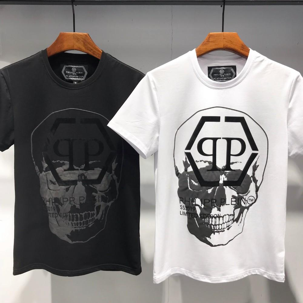 bec95fc70 2019 Summer New Fashion T Shirts Skull Printing Short Sleeves And Pure  Cotton Casual T Shirts High Quality And Exquisite Silly T Shirt Make Your  Own Tee ...