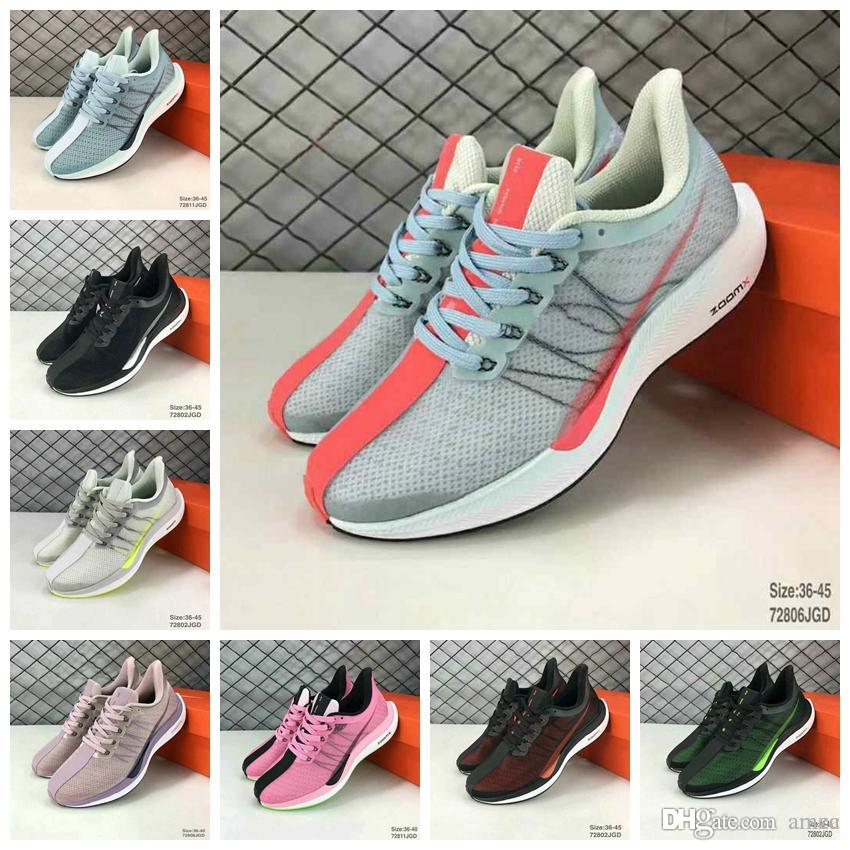 2019 Zoom Pegasus Turbo Barely Grey Hot Punch Black White Running Shoes Women Mens React ZoomX Vaporfly Pegasus 35 trainers 36 45