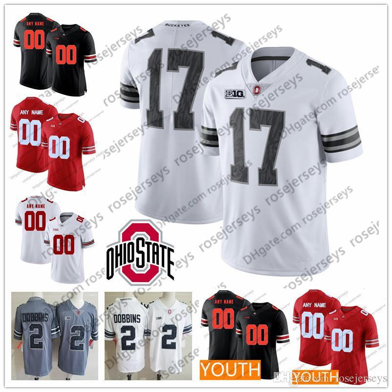 ebccac79815 2019 Custom 2019 OSU Ohio State Buckeyes Camo Jersey NCAA Fields Haskins  George Dobbins Elliott Bosa Men Youth Kid Red White Gray Black Pink From ...