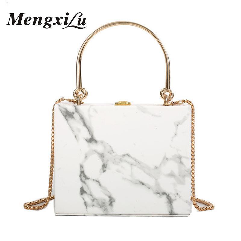 MengXiLu Brand Fashion Women Handbags Stone Top Handle Sequine Designer  Ladies Shoulder Crossbody Chain Bag Small Box Style 2019 Discount Designer  Handbags ... 2bb728c075