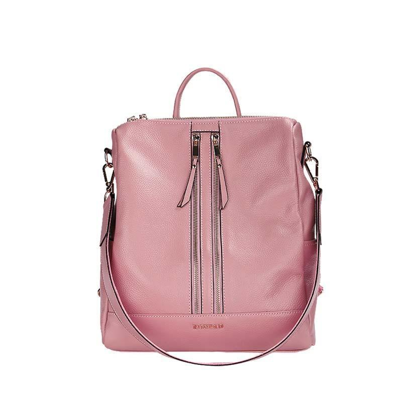 f5a635cbdc2e Nice Summer Custom Shoulder Bag College Wind Lady Backpack Fresh Casual  First Layer Leather Zipper Backpack