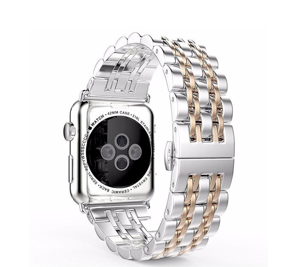 Inoxydable Montre En Iwatch Luxe Maillons 4 Pour Bracelet 40mm Acier De 44mm À Apple Série Watch y8wOmnvN0P