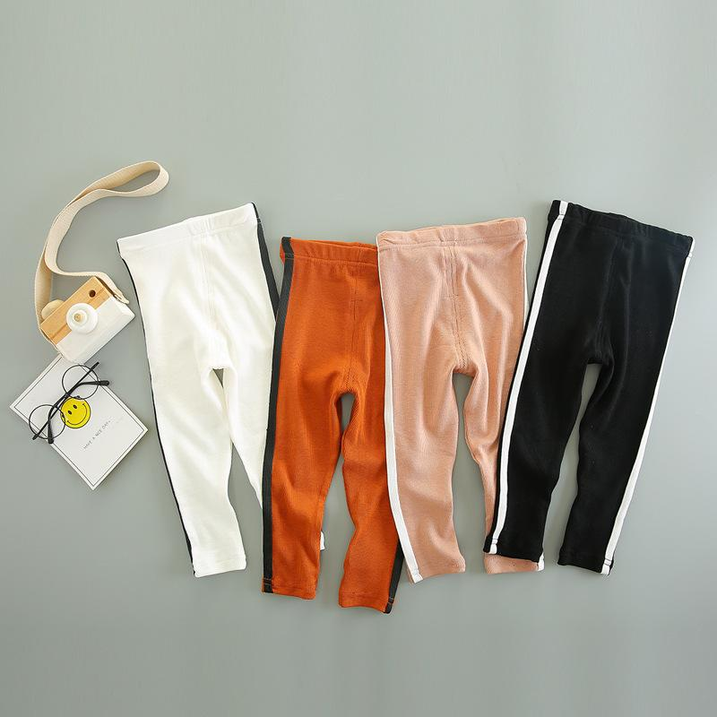b2e29c8681b75 Baby Girls Long Pants New Fashion Kids Little Girls Side Striped Skinny  Pants Clothes Bottoms Leggings Pants Newborn Trousers Black Cargo Pants For  Kids ...