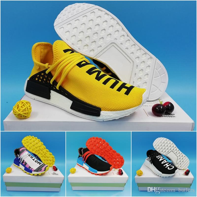 buy online 83d68 b7ab8 Human Race NMD Hu trail pharrell williams men running shoes Nerd black  cream Orange red mens trainer women designer sports running sneakers