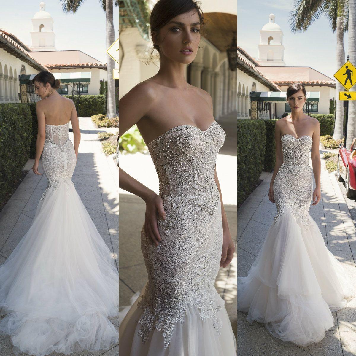 2019 Netta Ben Shabu Wedding Dresses Strapless