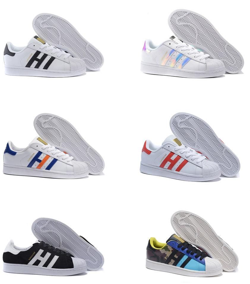 chaussures de designer Superstar Original White Hologram Iridescent Junior Gold Superstars Chaussures de course Baskets Originals chaussures de sport Super Star