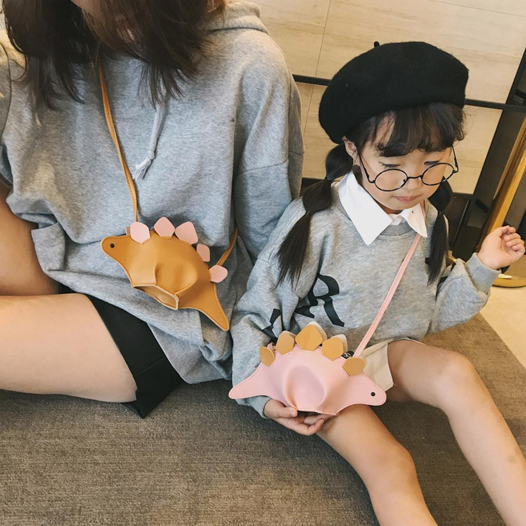 Hot Parent-child Children Lovely Animal Shoulder Bag Crossbody Bag Clutch Coin Cute dinosaur shape Borsa a tracolla#20