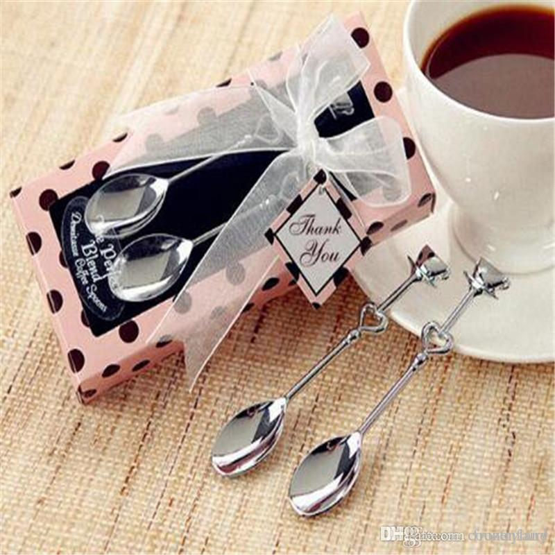 Teatime Wedding Favors Love Beyond Measure Heart Measuring Spoons in Gift / coffee spoon 20set/lot Thin styl
