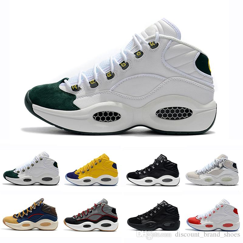 Classic Allen Iverson 1 Olive Green Black Yellow Answer I One Basketball  Shoes For Top Quality 1s Men Trainers Athletic Sneakers Size 40 46 Buy Shoes  Online ... ebe776b1c