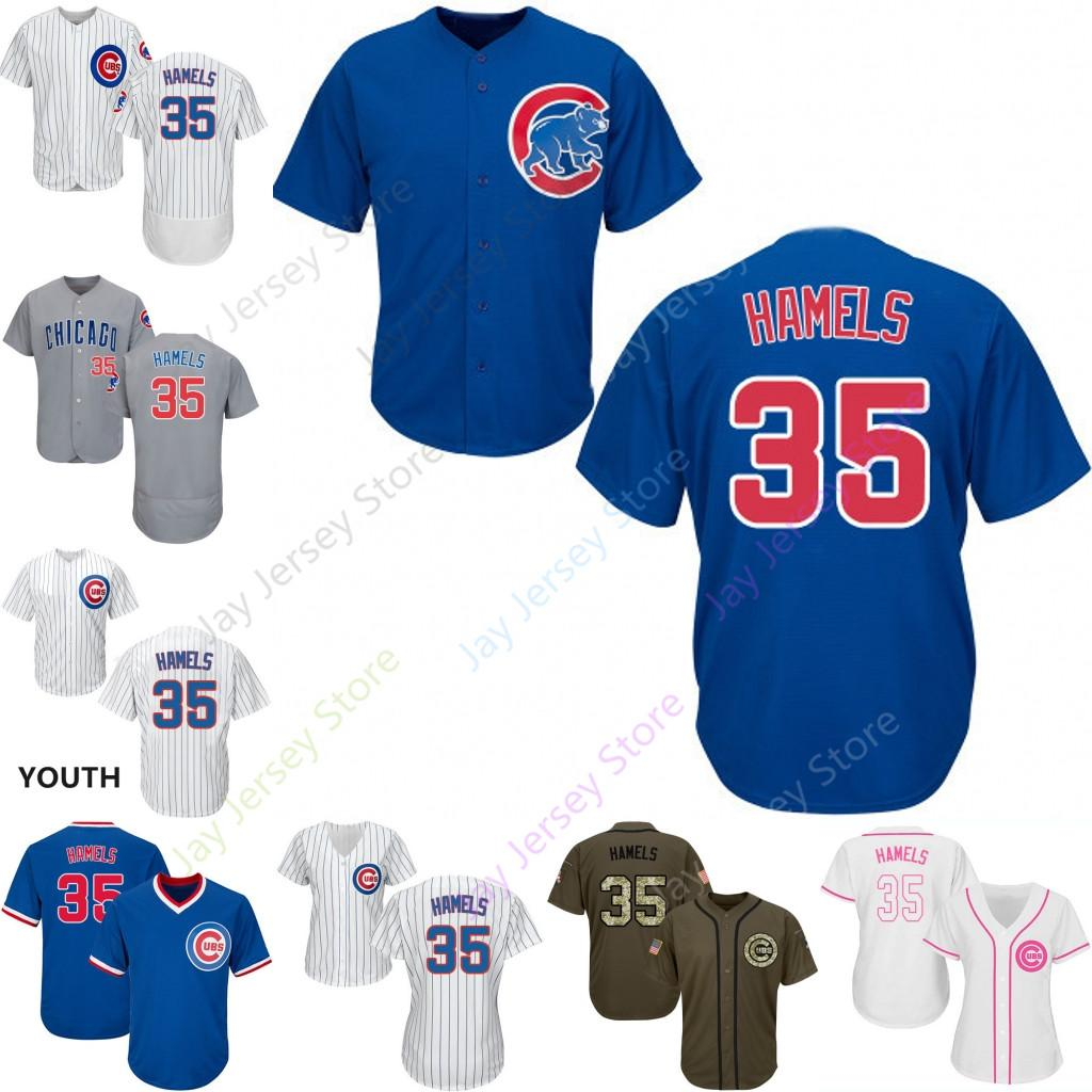 more photos e2a96 07f45 Custom Chicago 35 Cole Hamels Jersey Cubs Jerseys Cool Base Flexbase White  Black Red Grey Home Away Men Women Youth All Stitched