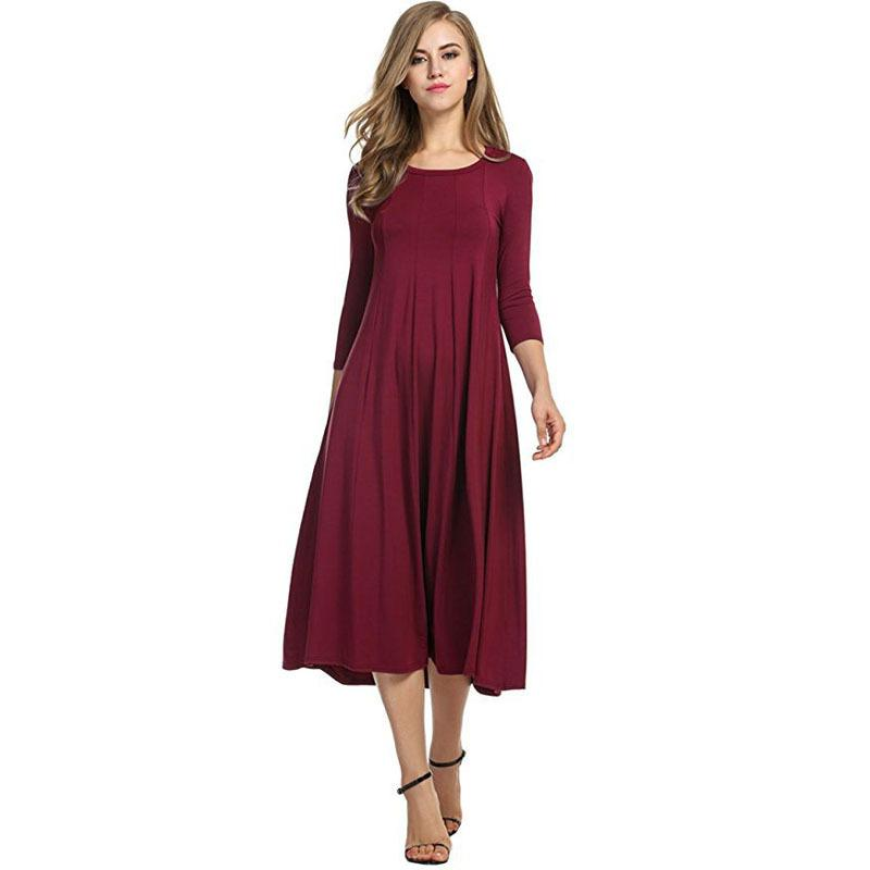 9887e761c90 2019 Autumn Slim Hem Maternity Dress Pregnant Women Clothes Ladies Dress  Pregnancy Maternity From Qwinner