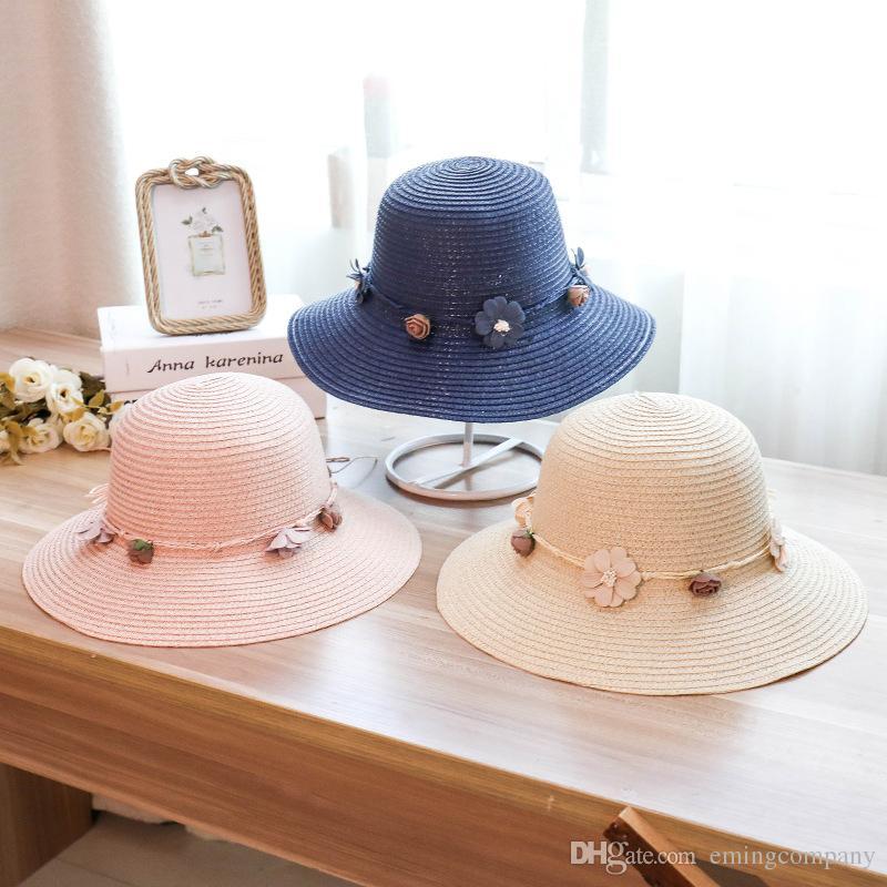 8273380d002 Designer Straw Hats Ladies Sun Beach Visors With Handmade Flower ...