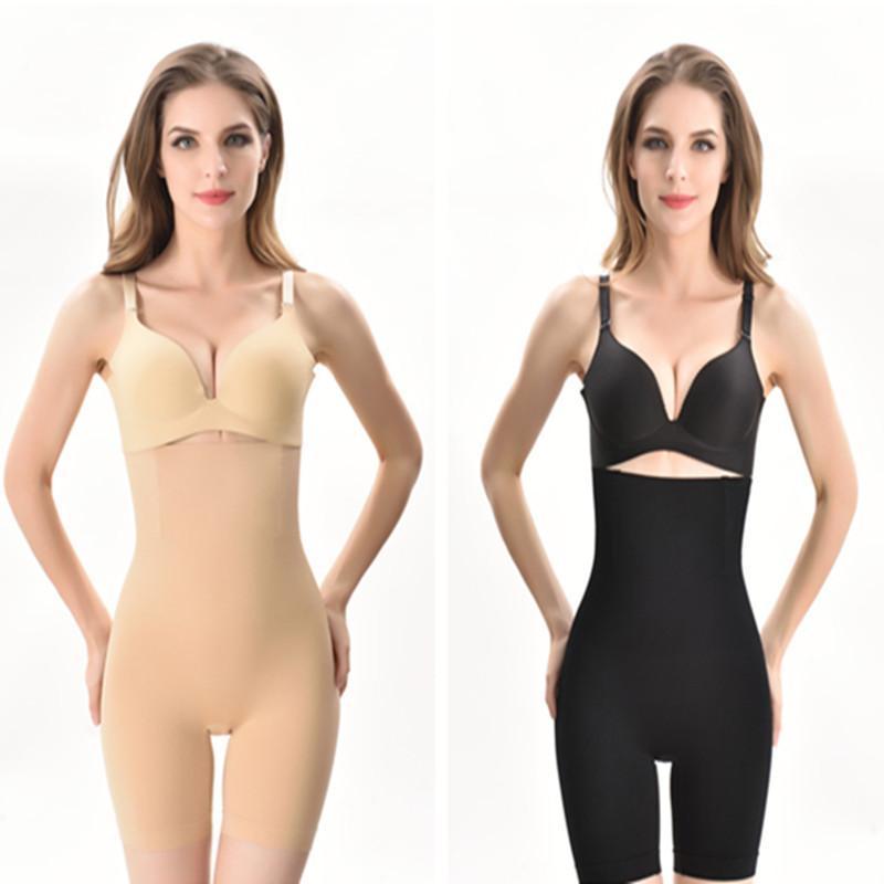 0ad8b79ba58 2019 Women High Waist Slimming Tummy Control Knickers Briefs Safety Pants  Postpartum Shapewear Seamless Underwear Body Shaper Lady Corset A32602 From  ...