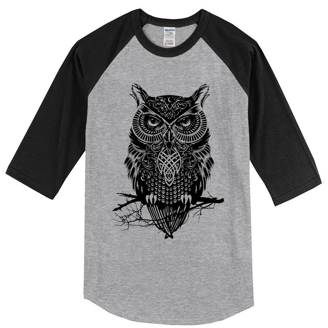 d0274710 2019 Summer Men'S T Shirts Three Quarter Sleeve Owl Casual Men'S Sportswear  Raglan T Shirt Brand Clothing Tops Crossfit T Shirt Online T Shirt Printing  On T ...