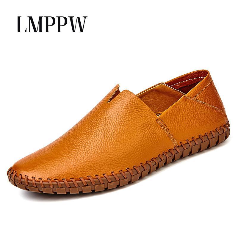 49735e2c Compre Hombres Italianos Mocasines Zapatos Hechos A Mano De Cuero Genuino  Pisos Zapatos Casuales Marca De Moda Suave Conducción Mocasín Cómodo 2A A  $65.0 ...
