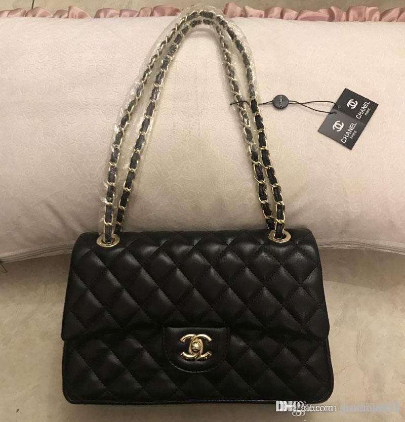 28a99557fb9c 2019 New Crossbody Bag Women Bags Leather Handbags Wallets For Women  Fashion Sheepskin Leather Gold Chain Bag Shoulder Bags Black Baseball Cap  Army Cap From ...