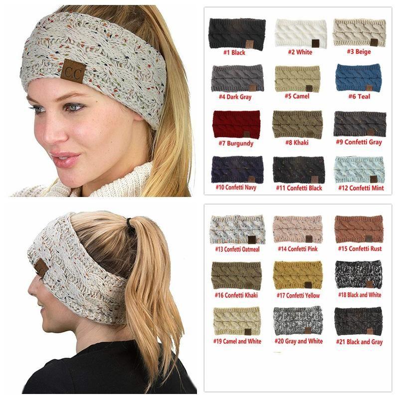 Cc Knitted Headband Headwrap Hat Cap 21 Styles Women Hair Bands