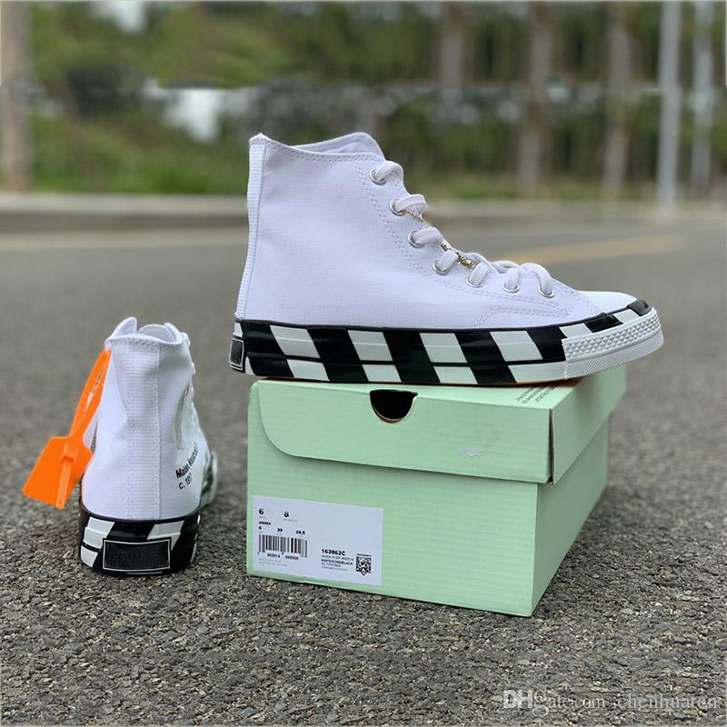 TOP Black White 2.0 Canvas Skateboard Shoes 2019 Sport Sneakers Mens High Limited Designer Women Basektball Shoe With Box