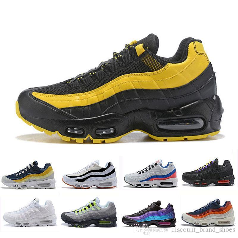 Nike air max 95 shoes Laser Fuchsia Schuhe OG Herren Damen Atmungsaktive Schuhe Klassisch Schwarz Rot Weiß Sport Trainer Oberfläche Sport Outdoor